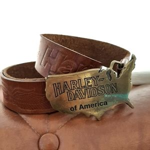 Vintage Collectible Harley Davidson Brass Buckle